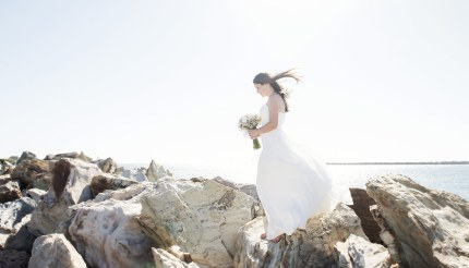 Bride on the rocks