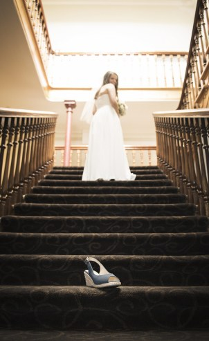 Cinderella shot on the Largs Pier Hotel staircase