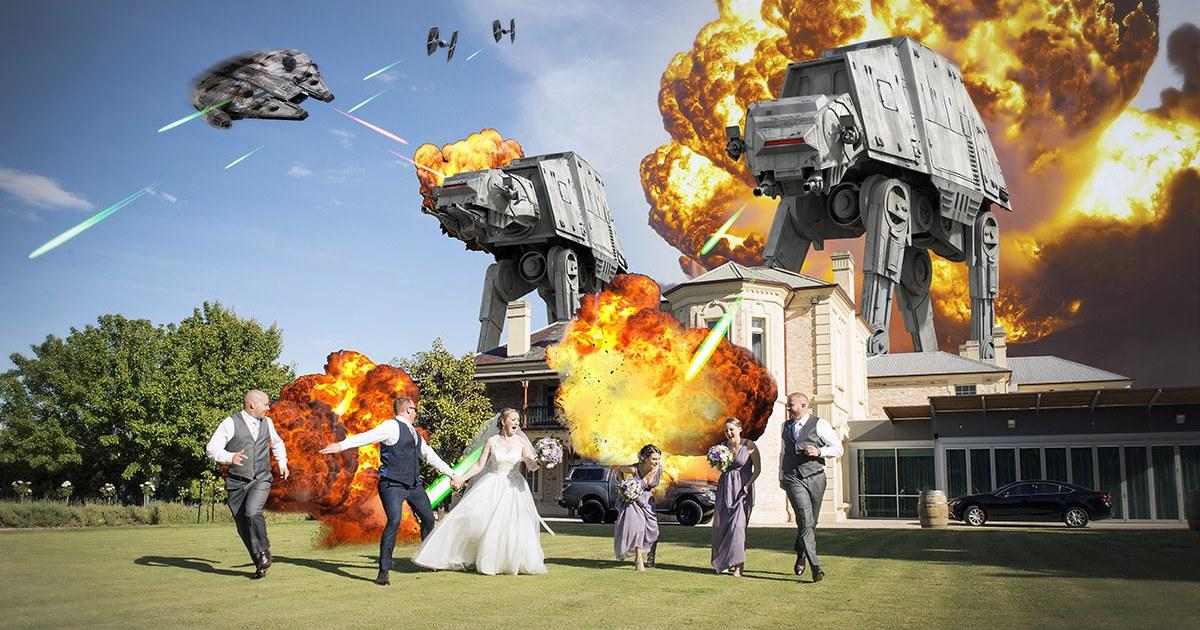 Star wars wedding at Auchendarroch House