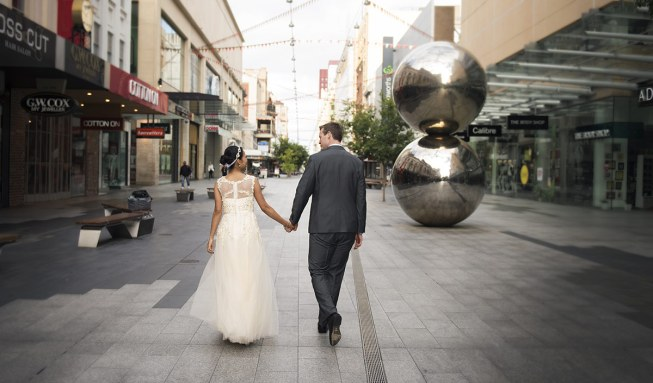 Couple at Mall's Balls Adelaide