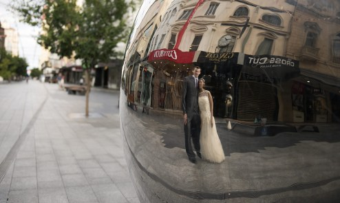 Reflection in the Mall's Balls