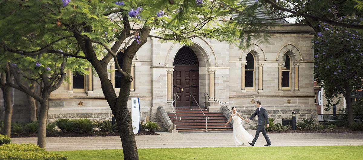 Walking around Adelaide University