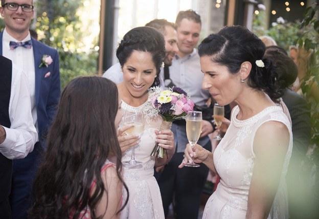 Talking bridesmaids