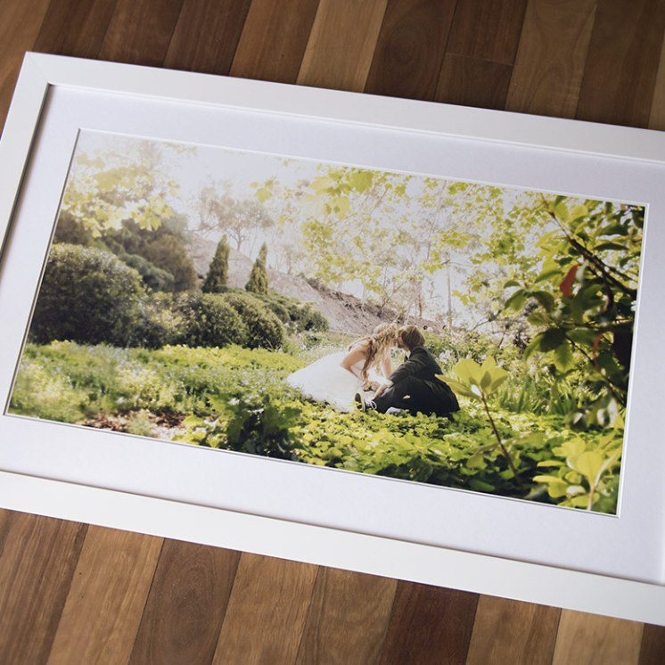 Framed wedding photography
