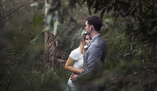 Looking through foliage - Adelaide Wedding Photography