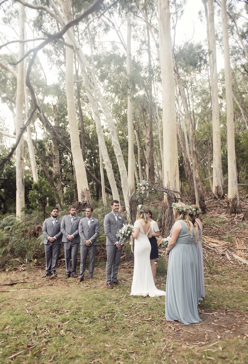 Sinclairs Gully wedding ceremony