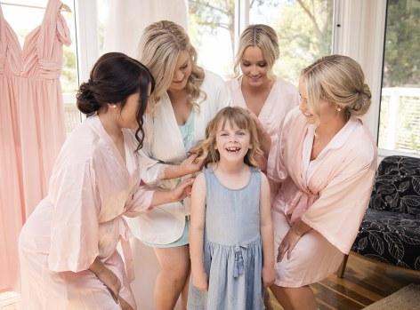 Flowergirl and bridesmaids