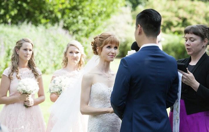 Bride saying vows