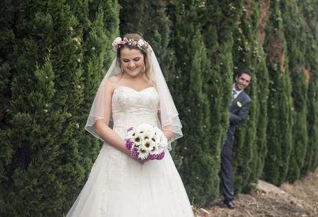 Sneaking up on the bride