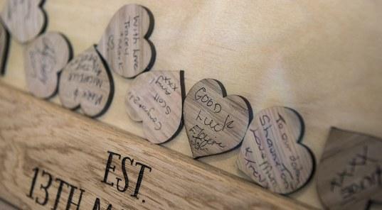 Love Heart Guest Book