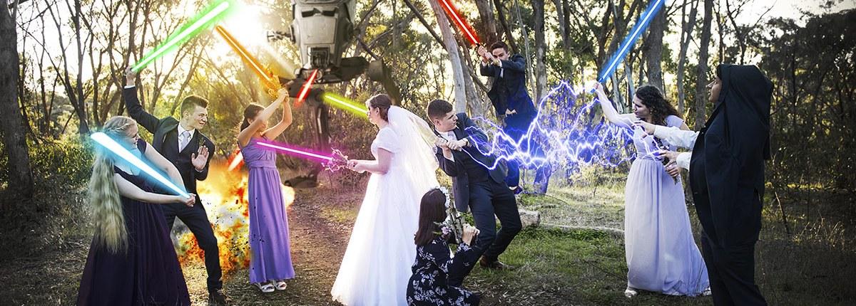 Star Wars Wedding Photography