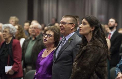 Parents singing