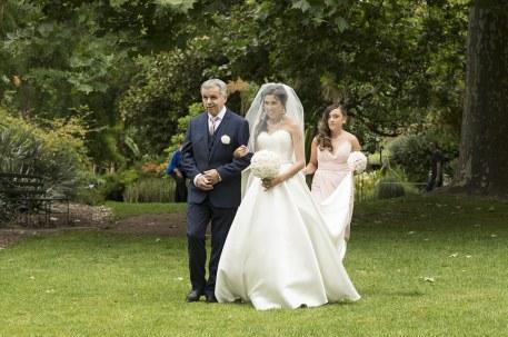 Bride approaching