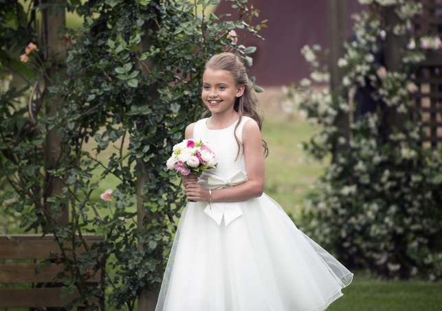 Flower girl walking out