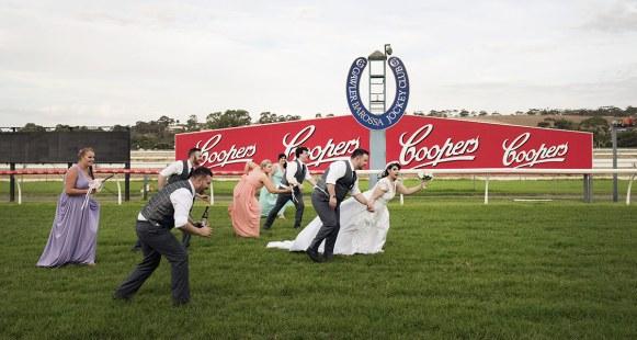 Bride by a nose!