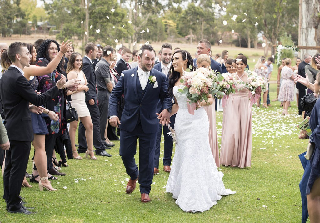 Walking together back down the aisle