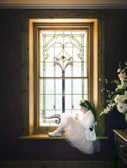Flower Girl in Window
