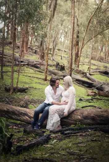 Together on a log
