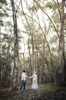 Walking together amongst the trees