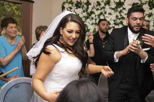 Dancing bride