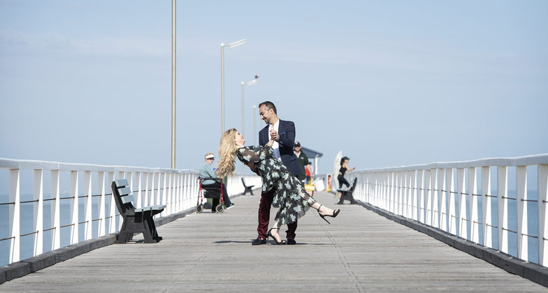 Dancing on Grange Jetty