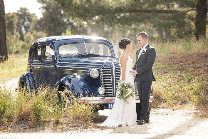 With the Wedding Car