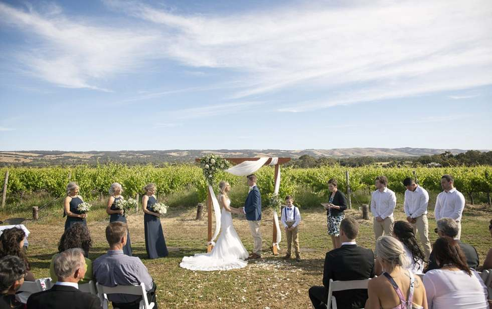 Ekhidna Winery Wedding Ceremony
