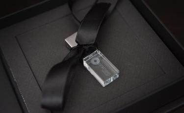 Close up of presentation USB