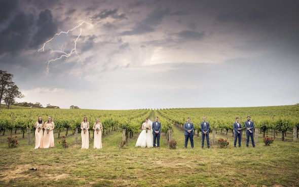 In front of the vineyard