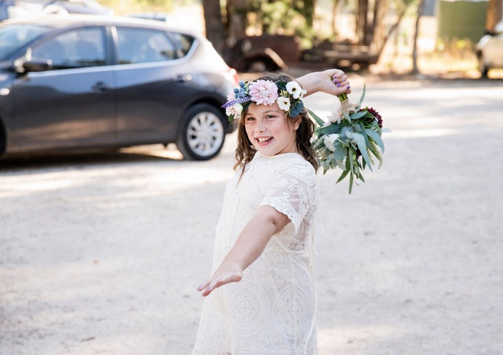 Throwing bouquet