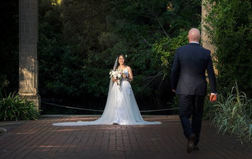 Walking to his bride