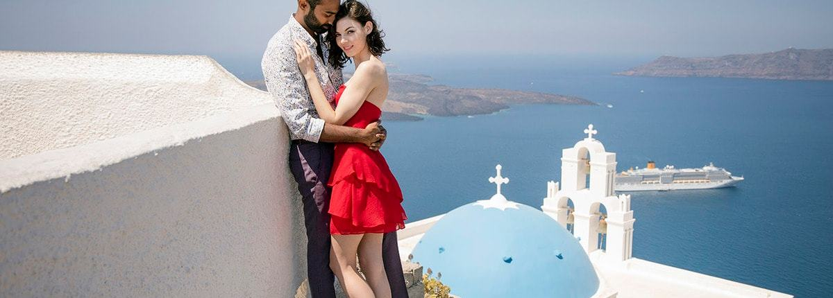 Santorini Couple Shoot