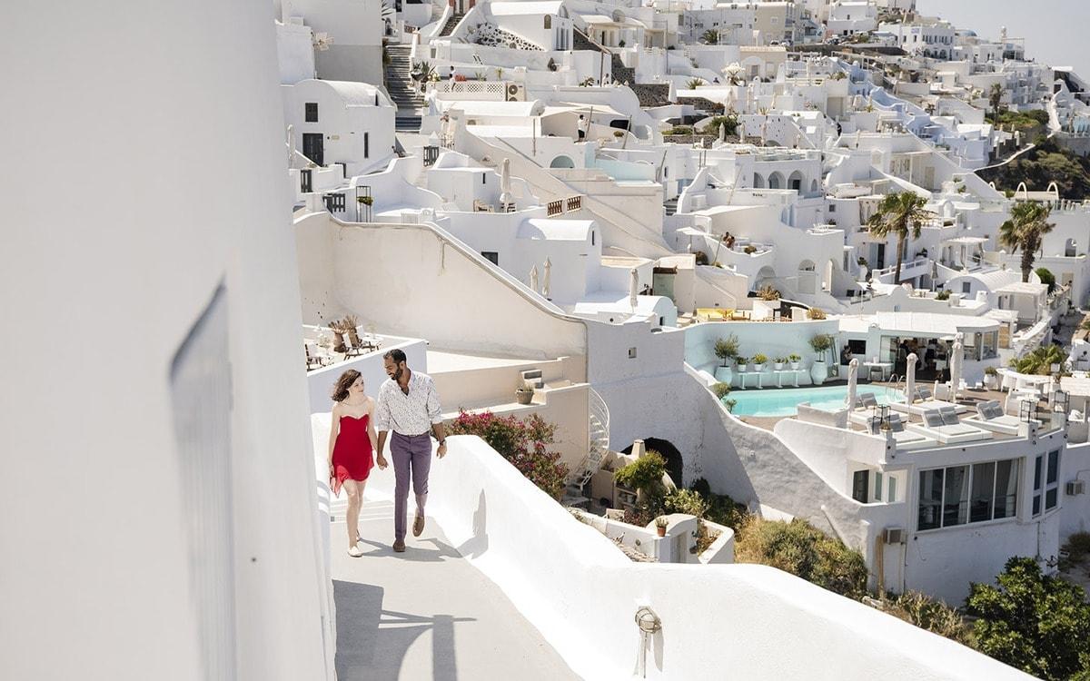 Walking about Santorini
