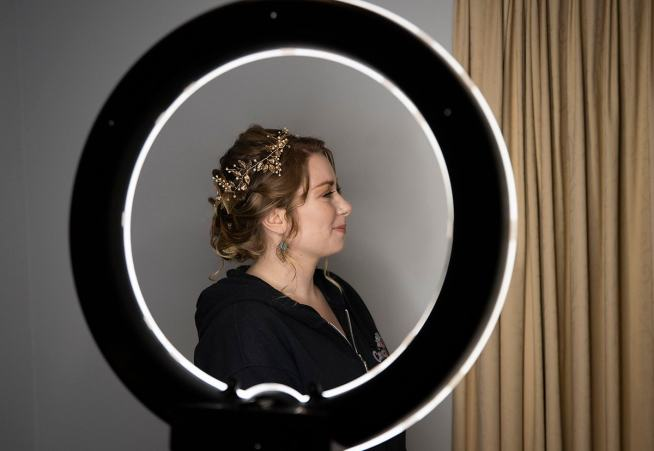 Through the makeup light