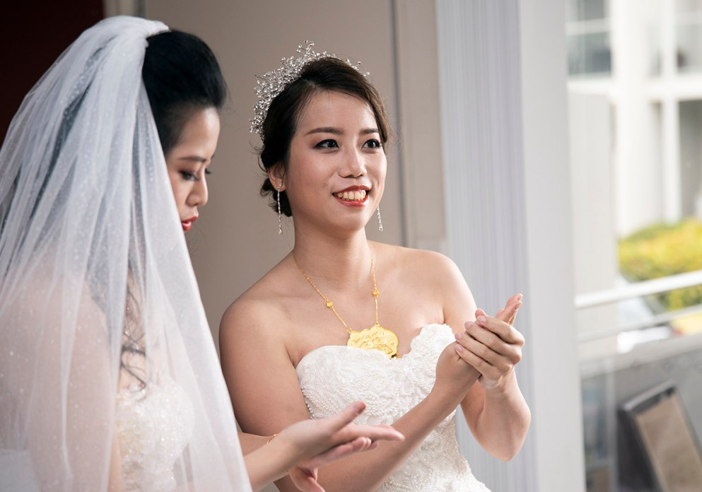 Smiling brides