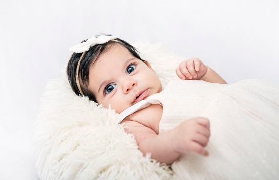 baby in fluff