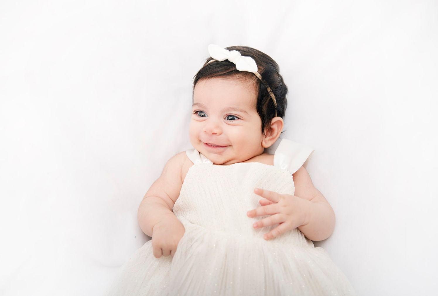 smiling baby mirella