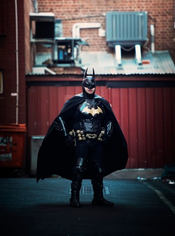 batman in an alley