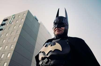 Batman looking around