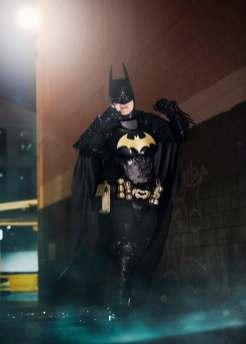 Batman striking a pose