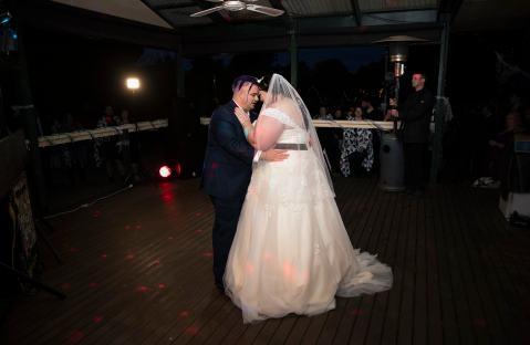 first dance at their Asatru wedding