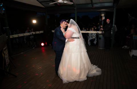 first dance at their Asatru wedding