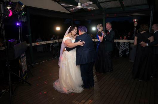 first dance on patio