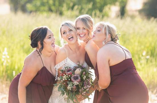 kisses for the bride