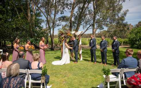 Woodstock winery wedding ceremony