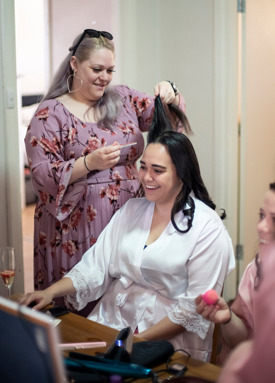 Doing the hair