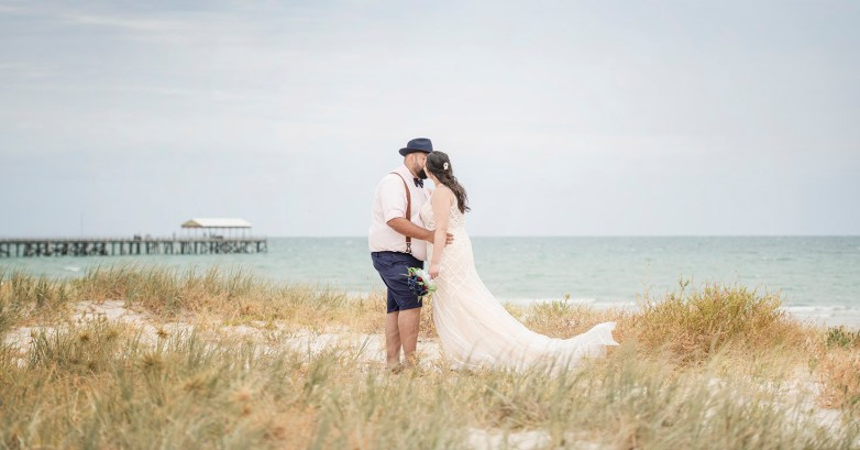 Semaphore Beach wedding photo
