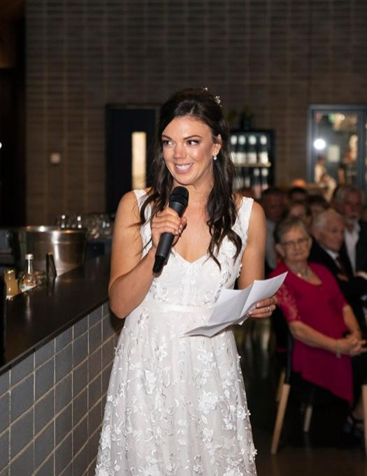 Bride's speech