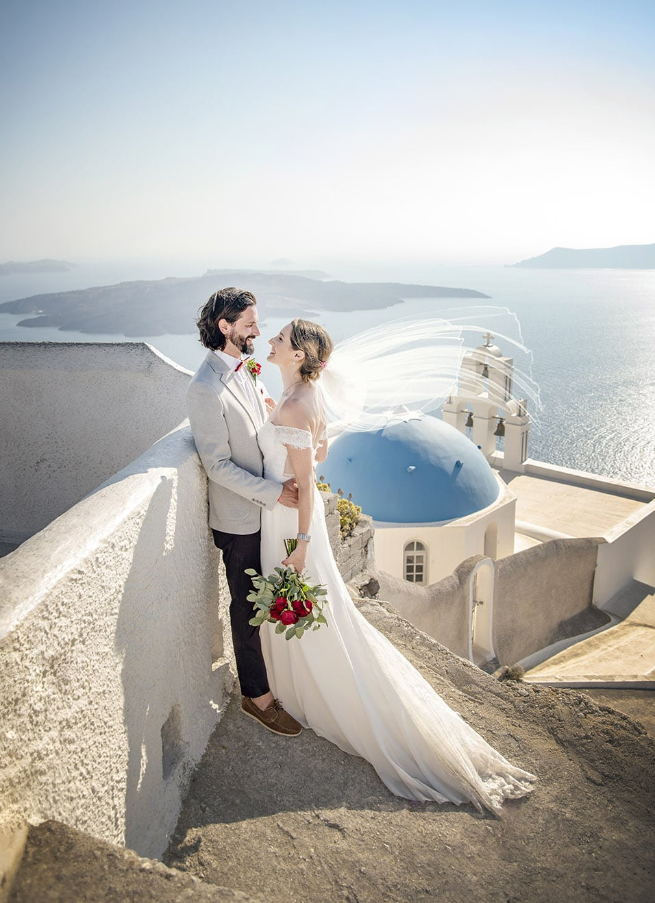 Santorini destination wedding photography
