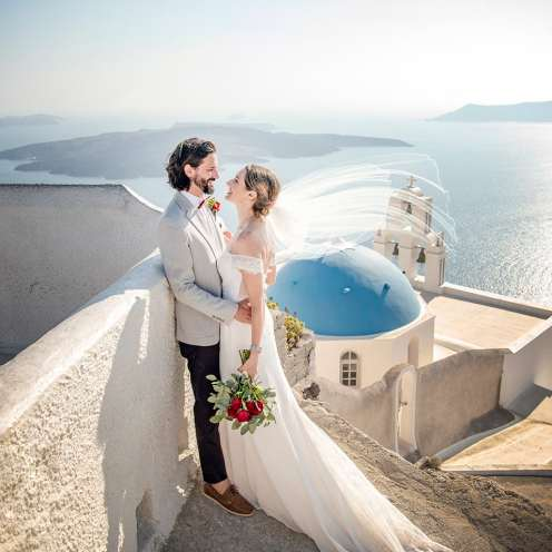 Santorini destination wedding photography